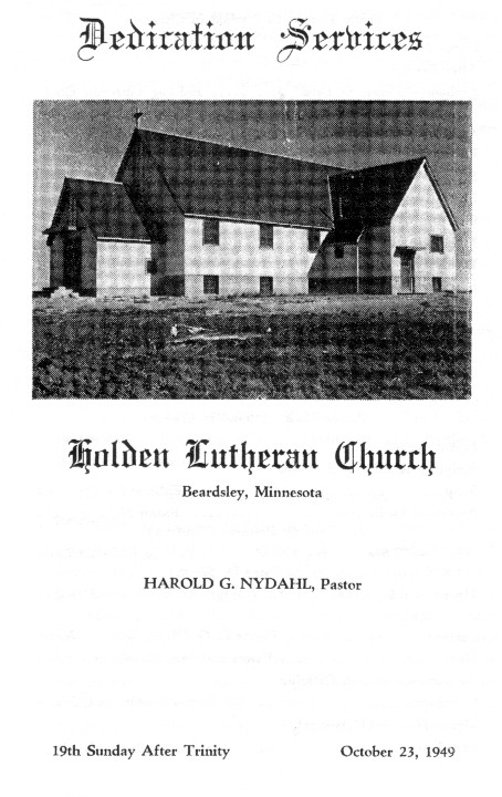 The new Holden  Church - Beardsley, dedication of the new church-innvielse av den nye kirken