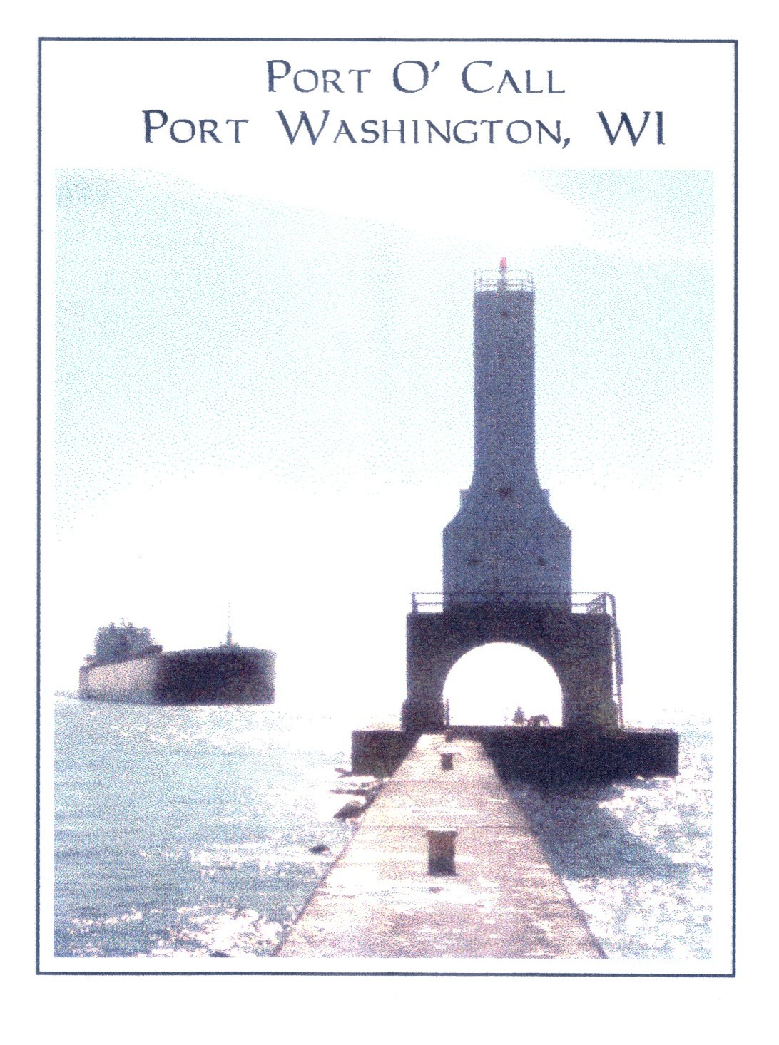 The lighthouse of Port Washington: Port O' Call.  --  Fyrtårnet - et kjent landemerke i Port Washington: Port O' Call.